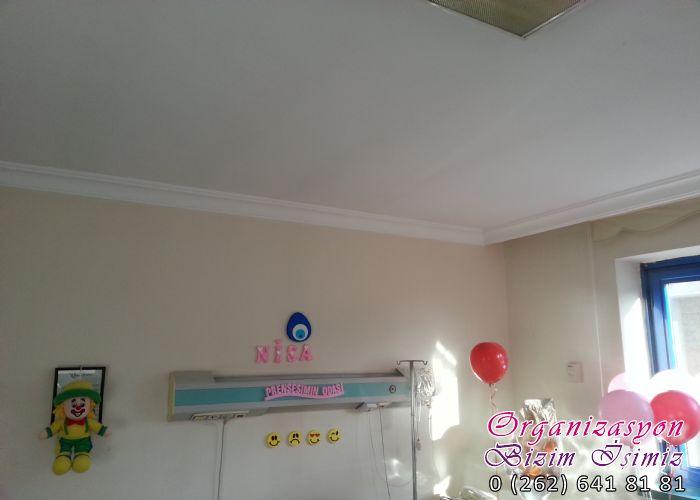 Gebze organizasyon doğum fotoğrafları oda süsleme